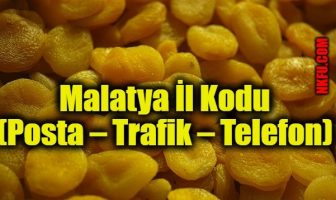 Malatya İl Kodu (Posta – Trafik – Telefon)