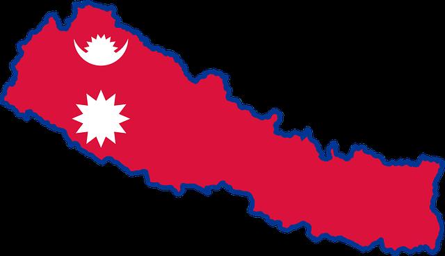 Nepal Bayrağı ve Haritası