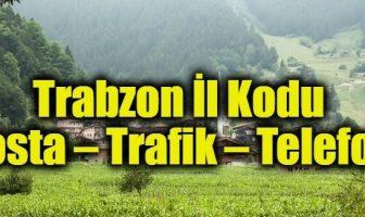 Trabzon İl Kodu (Posta – Trafik – Telefon)