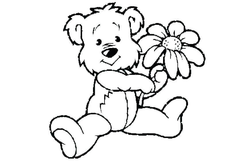 Sevimli ayıcık boyama sayfası
