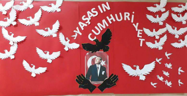 29 Ekim Cumhuriyet Bayramı Pano Çalışmaları
