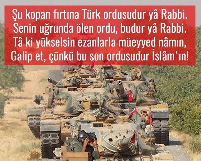 Şu Kopan Fırtına Türk Ordusudur Ya Rabbi