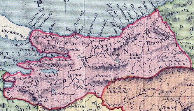 Bitinya Krallığı Haritası