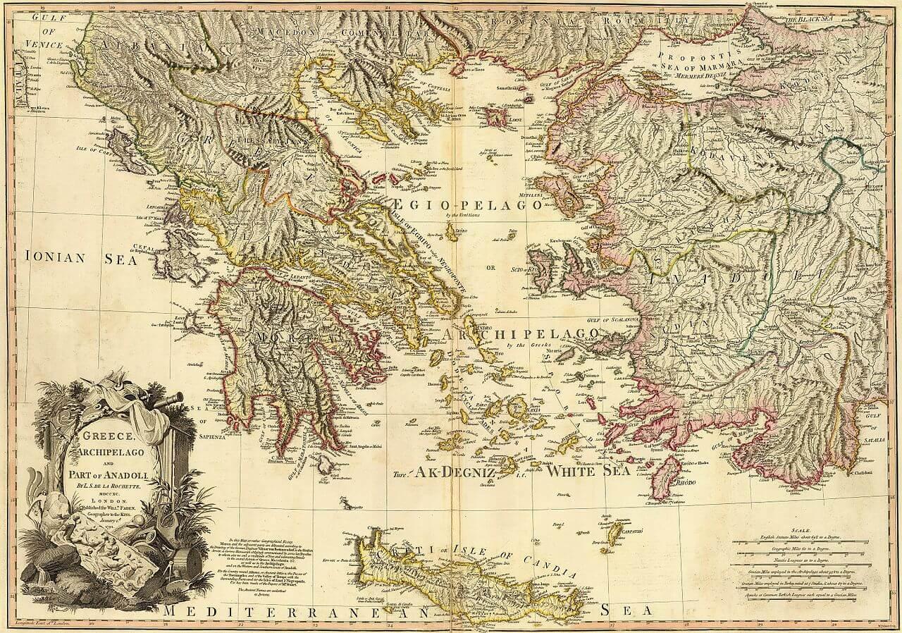 Antik Yunan Haritası
