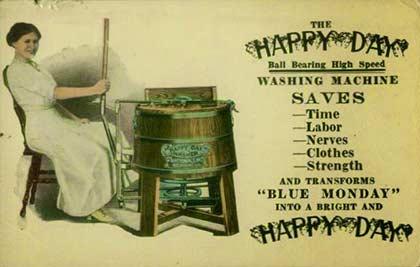 1900'lü Yıllardaki Çamaşır Makinesi Reklam Afişlerinden Bir Örnek