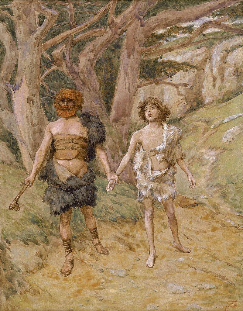 Kabil'in, Habil'i ölüme götürüşü, James Tissot'un tablosu, 1896.