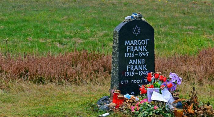 Anne Frank ve Kız kardeşi Margot Frank'in Mezarı