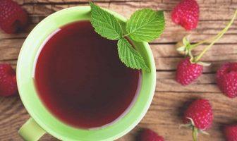 kırmızı ahududu yaprağı çayı