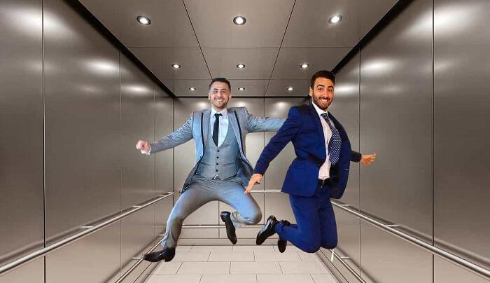 düşen asansörde zıplamak