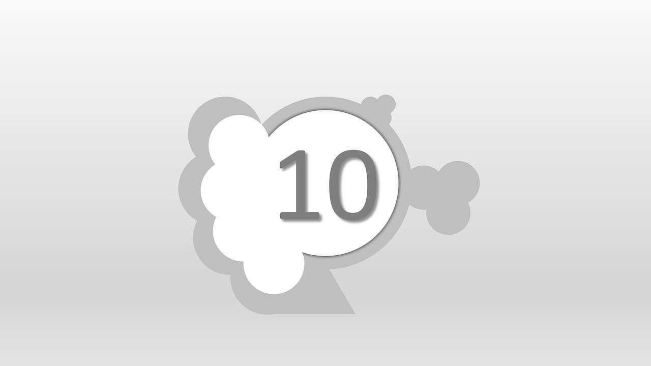 10 Sayısı (Rakamı) Boyama Sayfaları