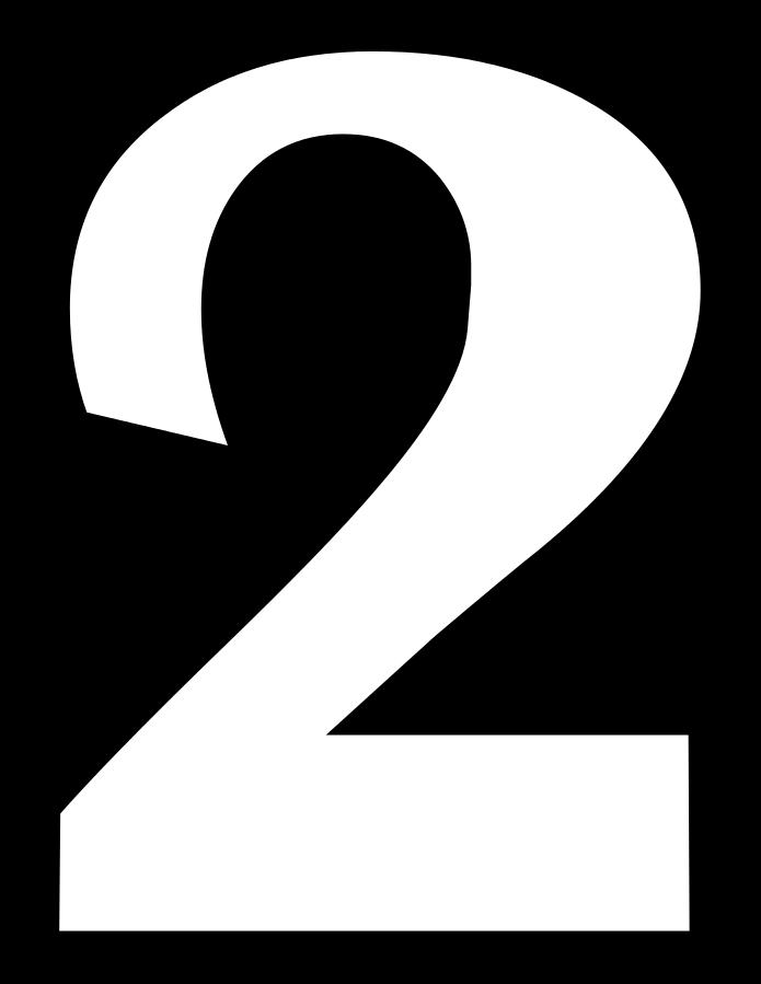 2 Sayısı (Rakamı) Boyama Sayfaları