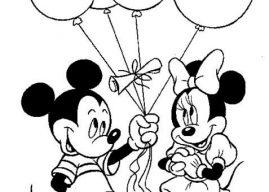 Mickey Mouse Boyama Sayfaları – Çizgi Film Miki Fare Boyama Etkinlikleri