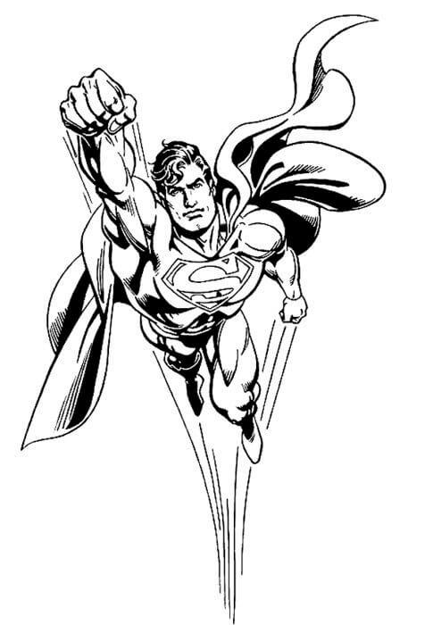 Süpermen Boyama Sayfaları