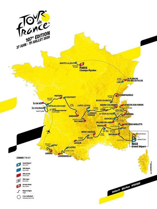 Tour de France Rotası