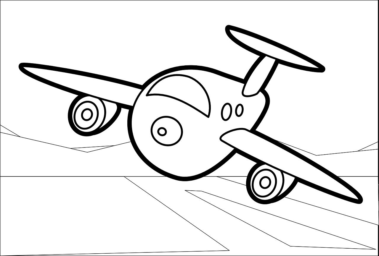 Uçak Boyama Sayfaları