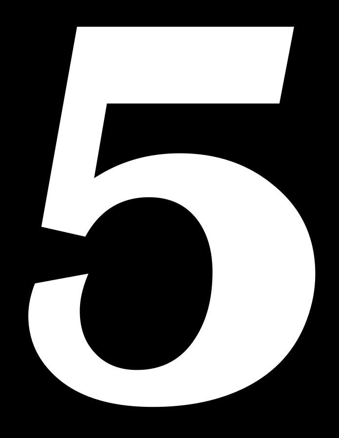 5 Sayısı (Rakamı) Boyama Sayfalar