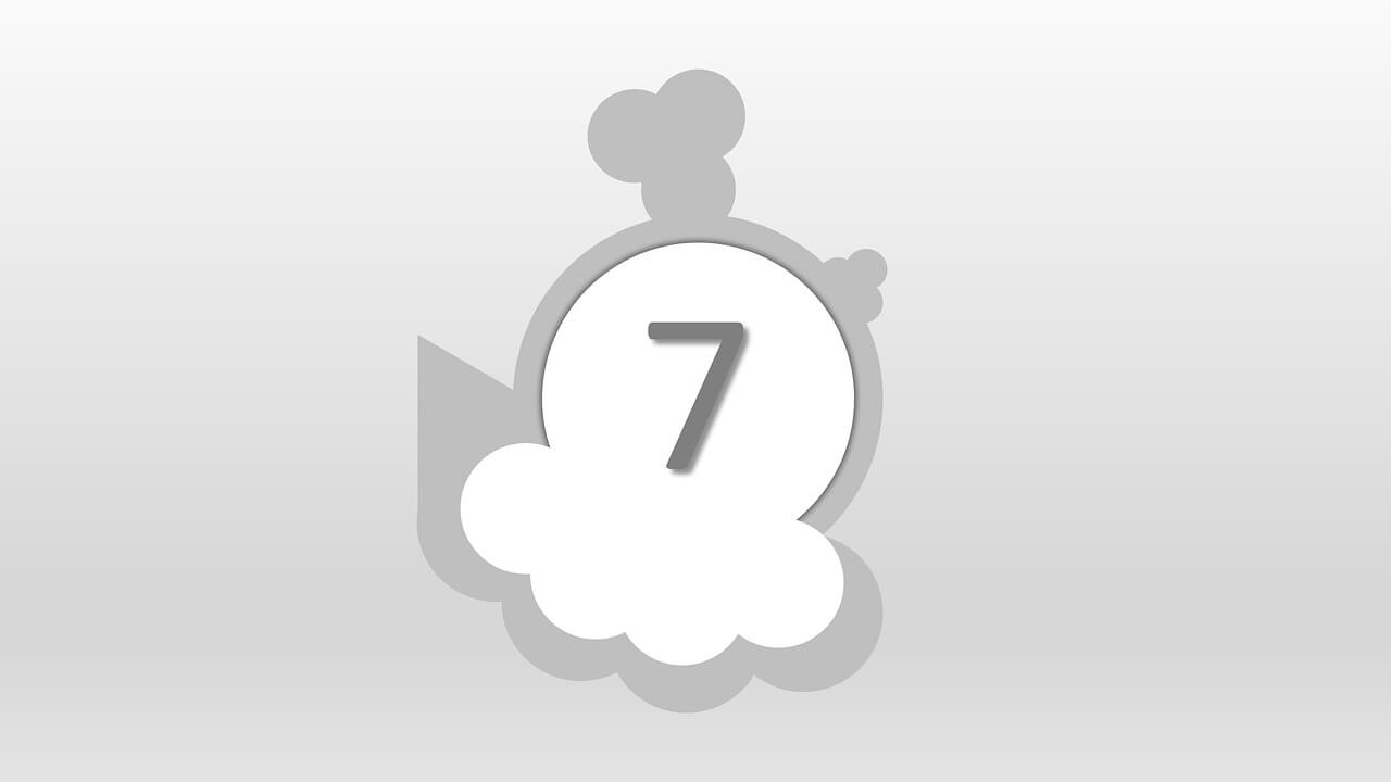 7 Sayısı (Rakamı) Boyama Sayfalar