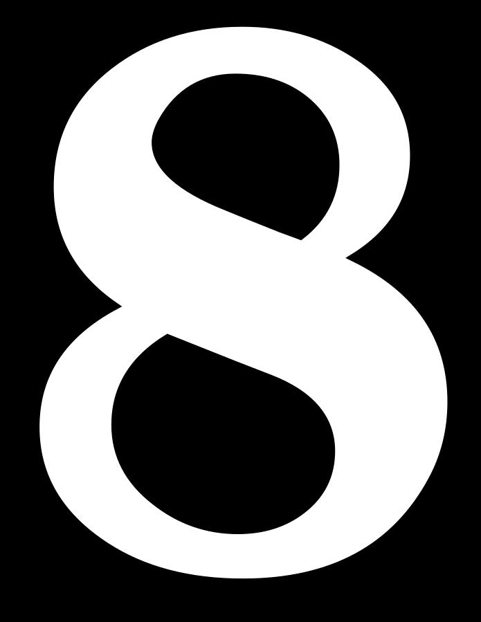 8 Sayısı (Rakamı) Boyama Sayfaları