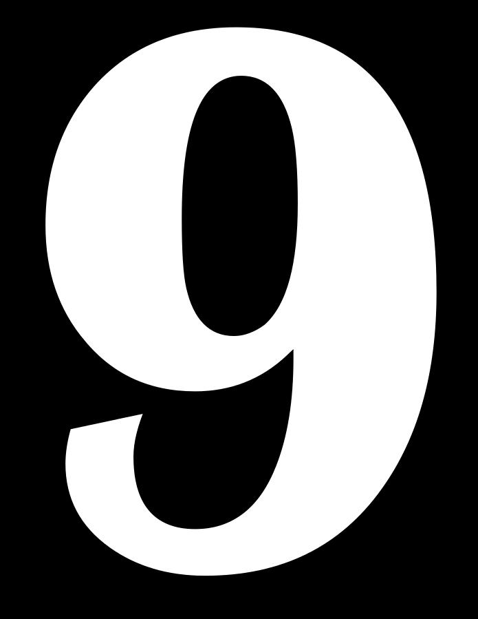 9 Sayısı (Rakamı) Boyama Sayfaları