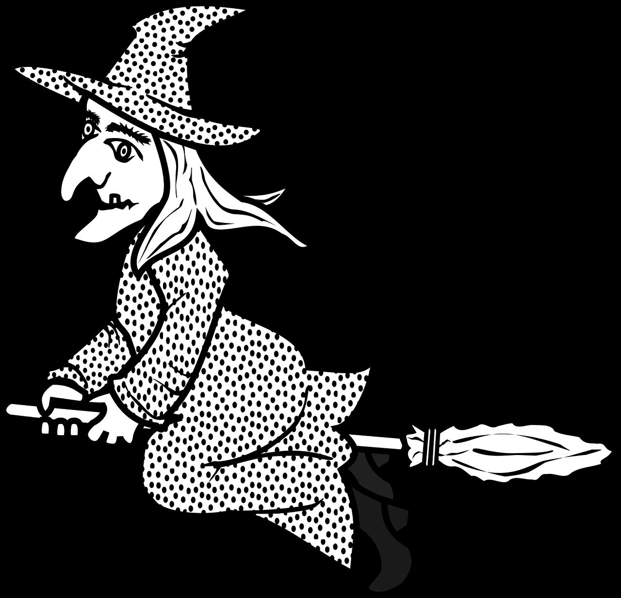 Cadı Boyama Sayfaları