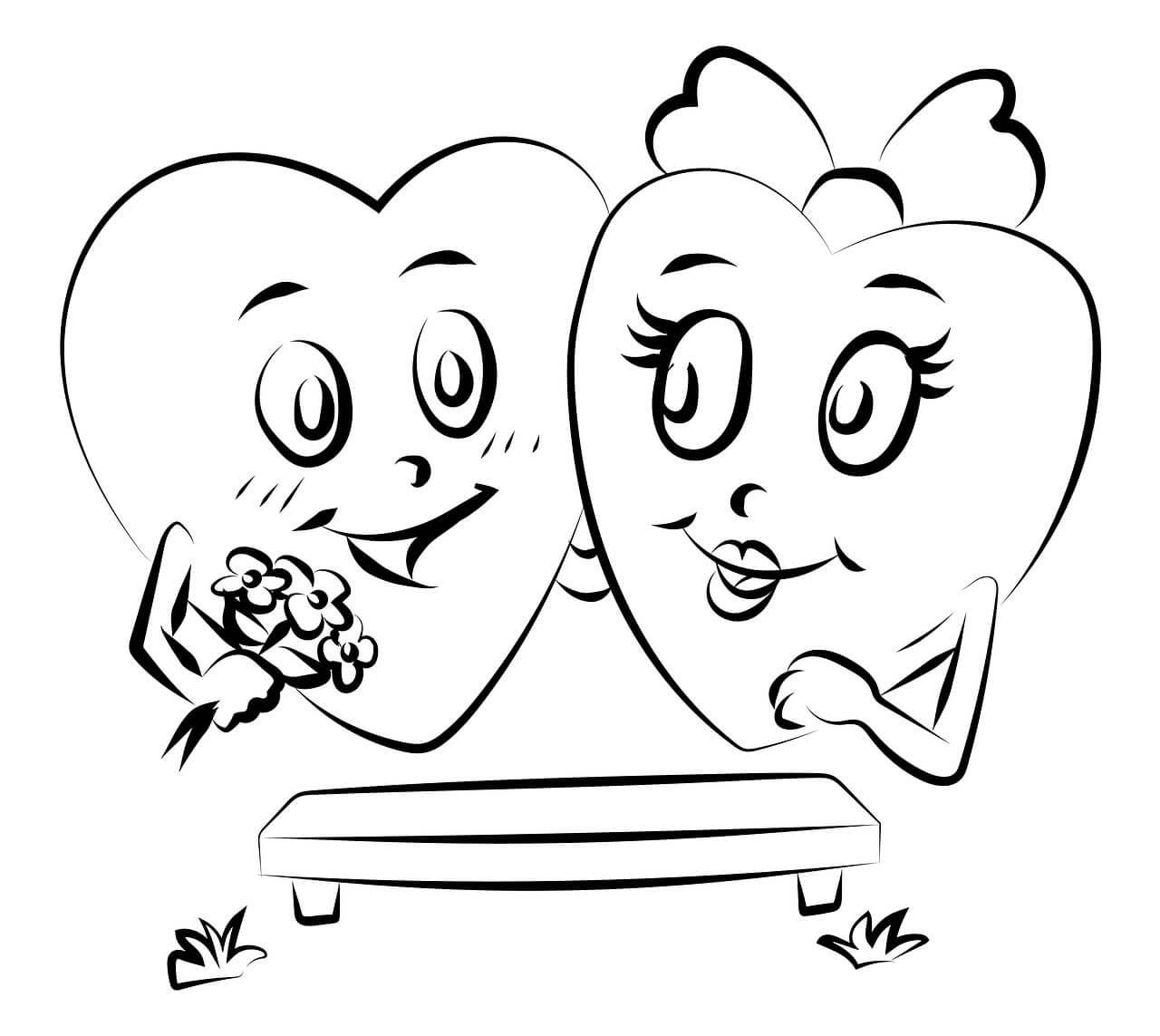 Kalp Boyama Sayfaları